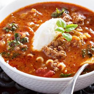 Slow Cooker Turkey Lasagna Soup.