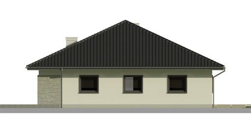 Dom przy Rubinowej 3 - Elewacja prawa