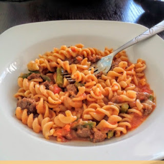 Turkey and Asparagus Skillet Pasta