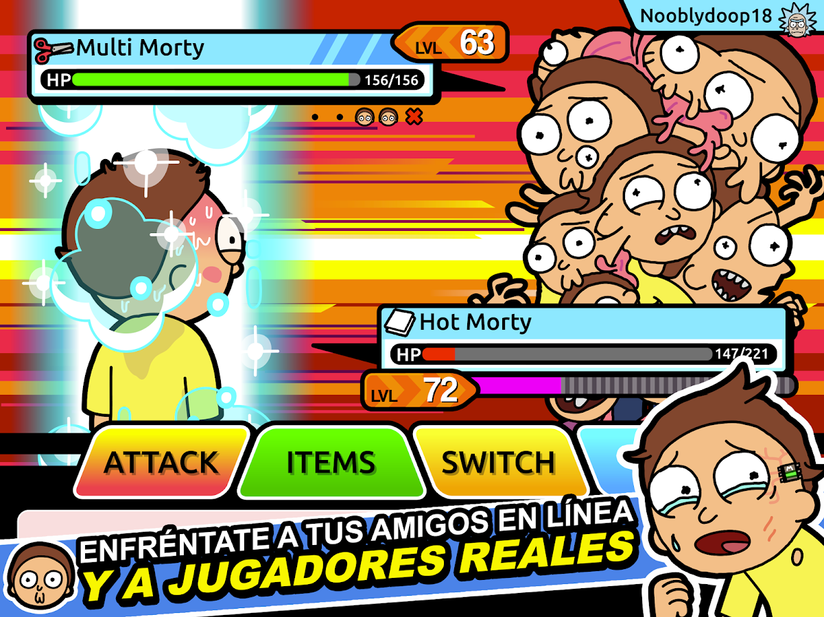Pocket Mortys: captura de pantalla
