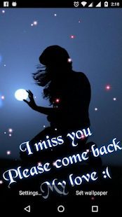 I Miss You Live Wallpaper - náhled