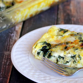 Caramelized Onion and Spinach Crustless Quiche