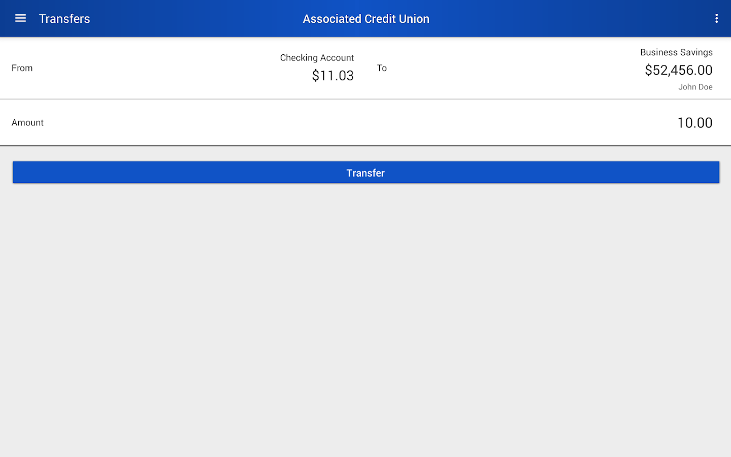 Associated Credit Union Mobile- screenshot