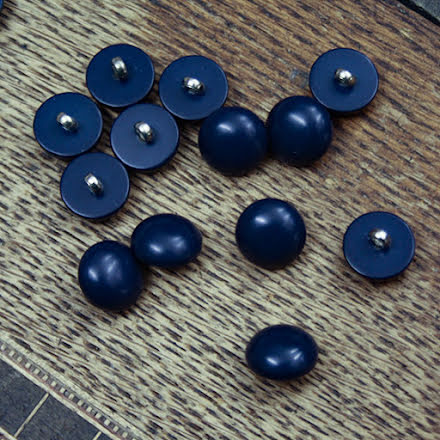 Halvklot Knapp 11mm - mörkblå