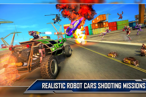 Ramp Car Robot Transforming Game: Robot Car Games screenshots 4