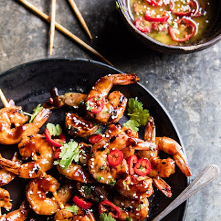 Honey Garlic Korean BBQ Grilled Shrimp Recipe