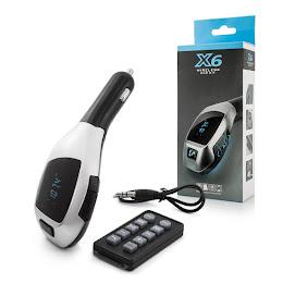 Car Kit Auto Bluetooth cu functie de modulator FM, model X6 + Telecomanda