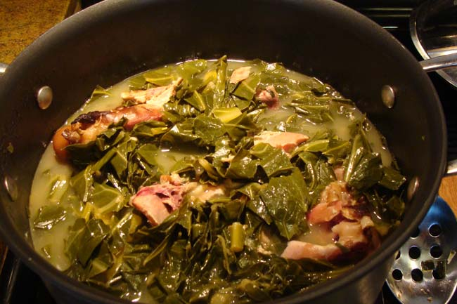 Collard Greens with Smoked Turkey Wings Recipe