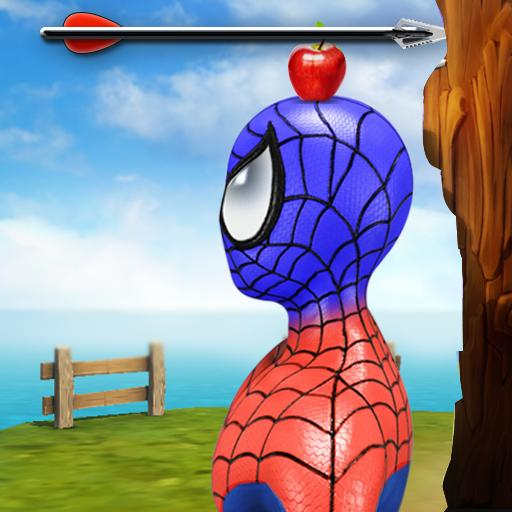 Apple Shooter with Spider Hero