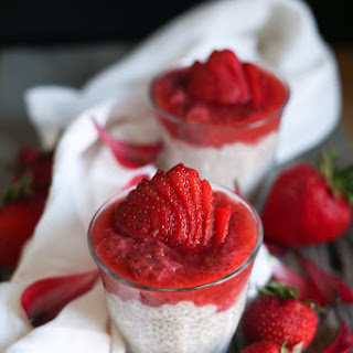 Stewed Strawberry Rhubarb Compote with Chia Coconut Pudding Recipe