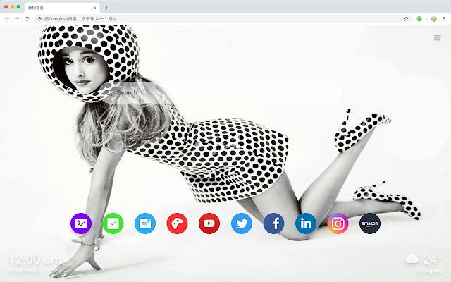 Eliana Grande New Tab Page Pop Star HD Theme