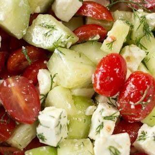 Simple Greek Salad – Low Carb, Grain Free, THM S Recipe