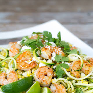 Mexican Street Corn, Zucchini & Shrimp.