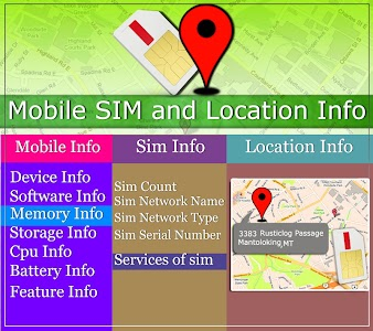 Mobile, SIM and Location Info screenshot 9