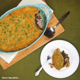 Greens Pie with Millet Amaranth Crust.