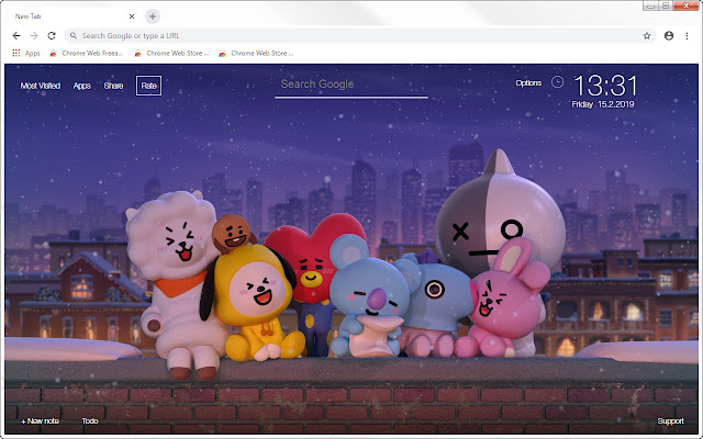 BTS BT21 HD Wallpapers New Tab Themes