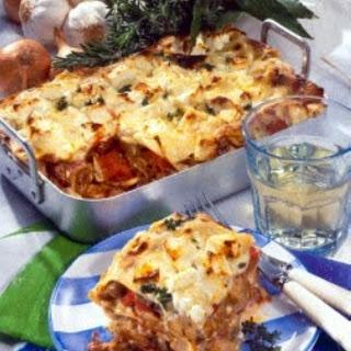 Gyros-Lasagne mit Schafskäse