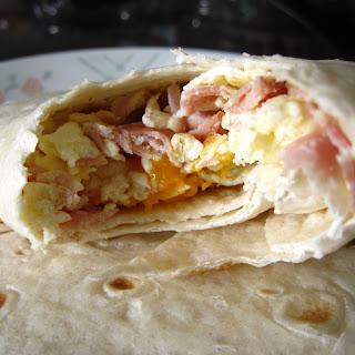 Ham and Egg Wraps.