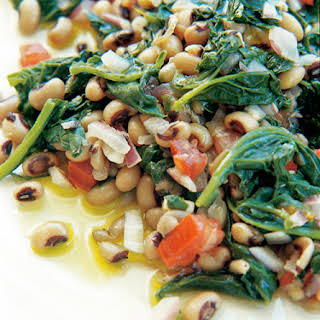 Black-Eyed Peas with Spinach.