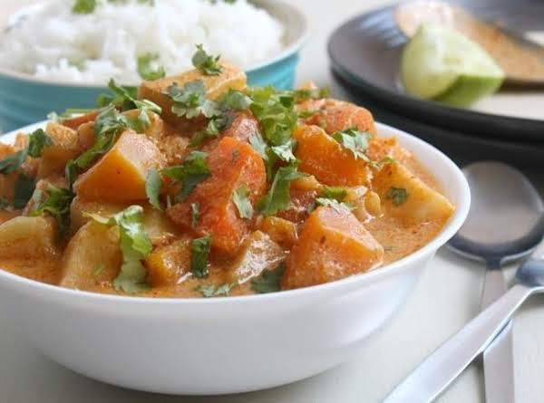 Winter Vegetable Red Thai Curry Recipe