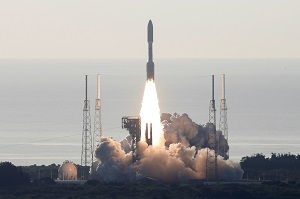 A United Launch Alliance Atlas V rocket carrying NASA's Mars 2020 Perseverance Rover vehicle takes off from Cape Canaveral Space Force Station in Cape Canaveral, Florida, U.S. July 30, 2020.
