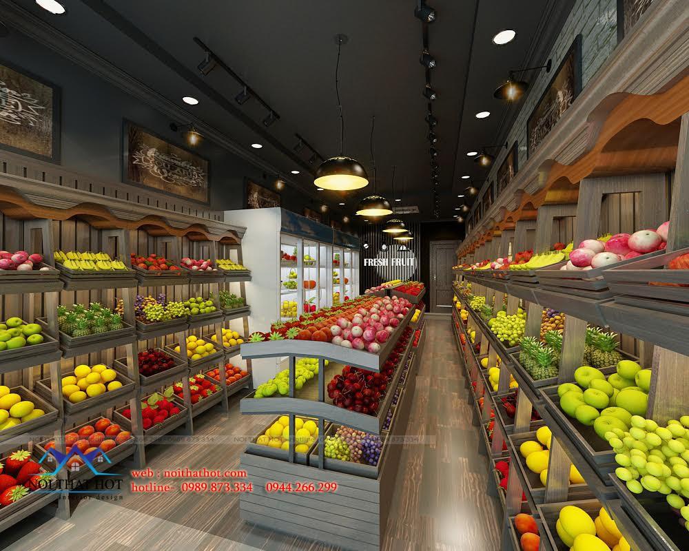 Thiết kế cửa hàng bán hoa quả đẹp và đơn giản