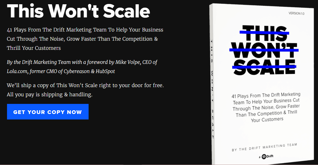 this won't scale ebook by Drift