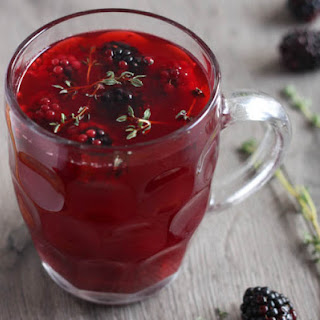 Apple And Blackberry Mulled Cider.