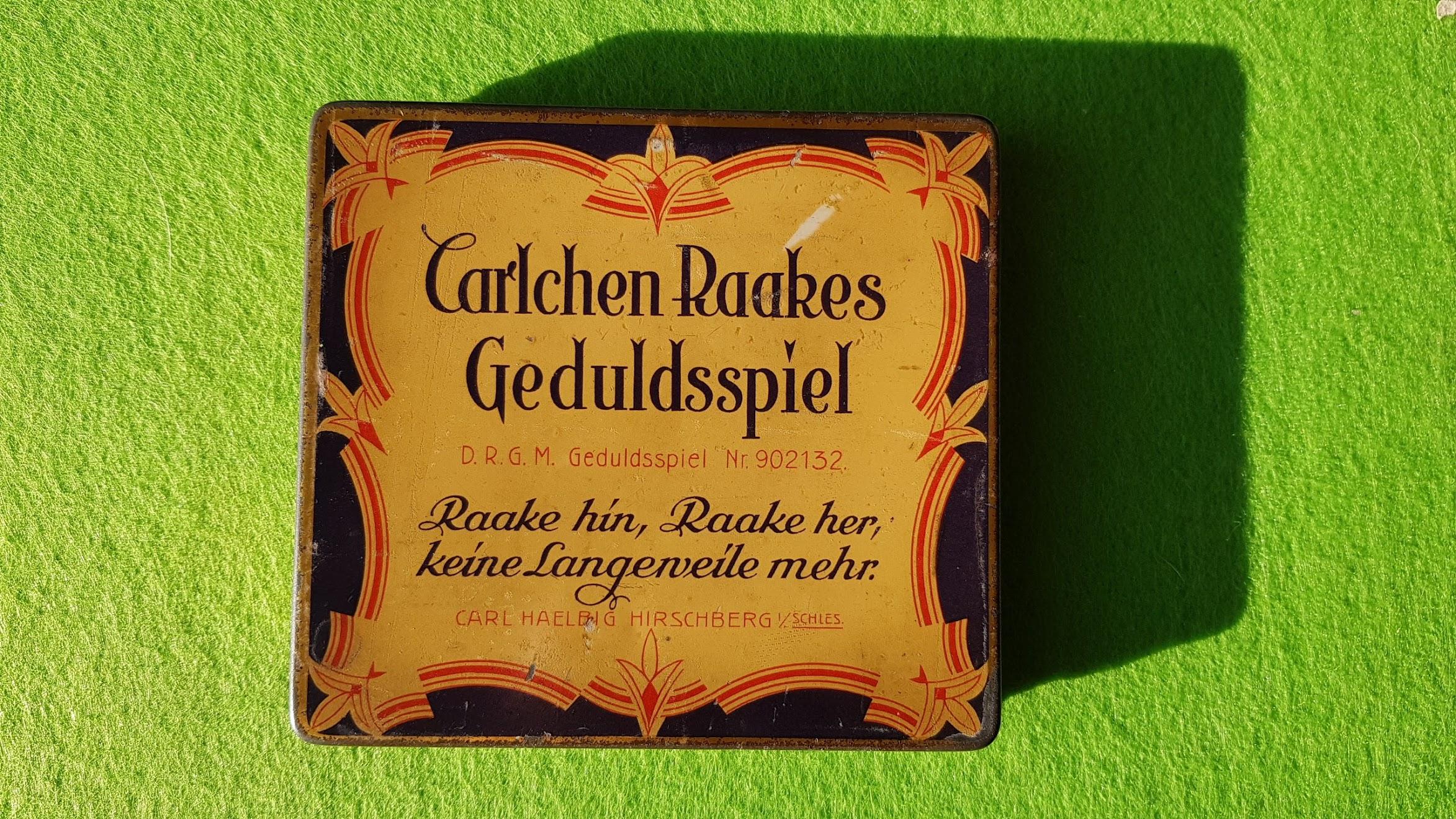 Carlchen Raakes Geduldsspiel für Denker und Schieber