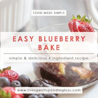 Easy Blueberry Bake.