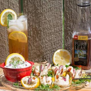 Lemon Herb Chicken Satays.