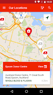 NZ Blood Service Donor App- screenshot thumbnail