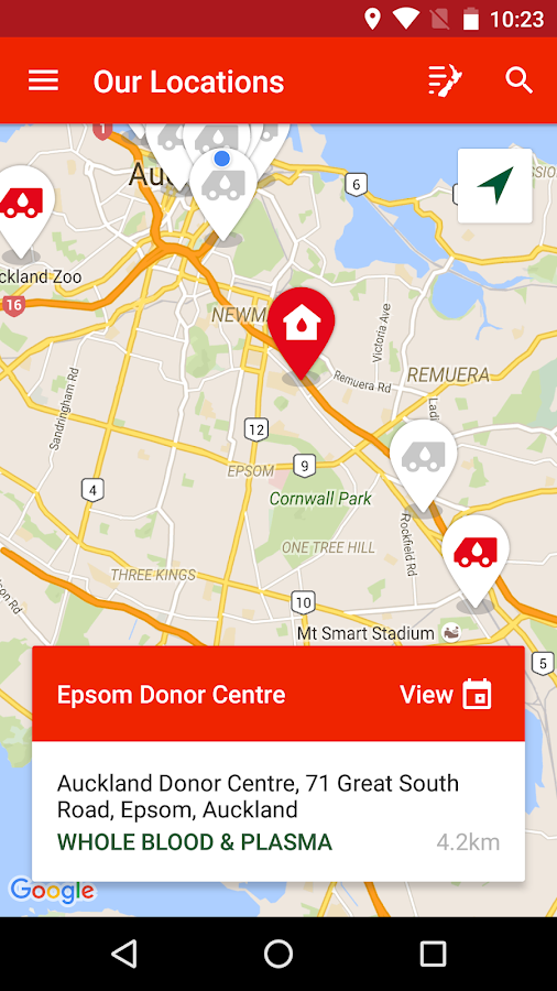 NZ Blood Service Donor App- screenshot