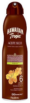 Bronceador Hawaiian Tropic Argan Oil SPF+6 x170gr