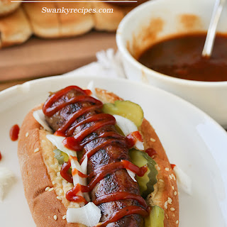 Wisconsin Beer Brats with Stadium Sauce