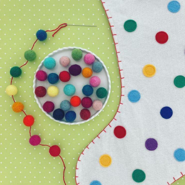 bright colored balls