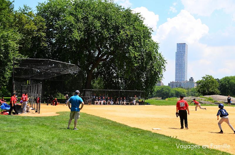 central park, baseball time