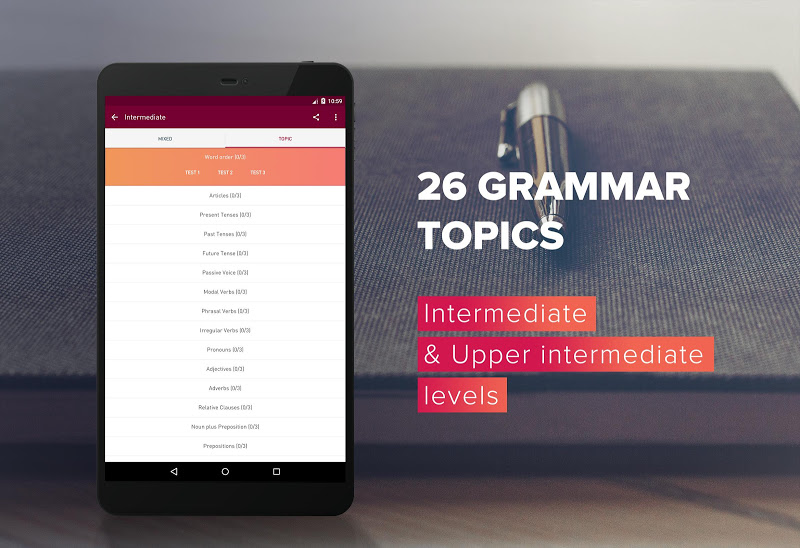 English Grammar Test Screenshot 14