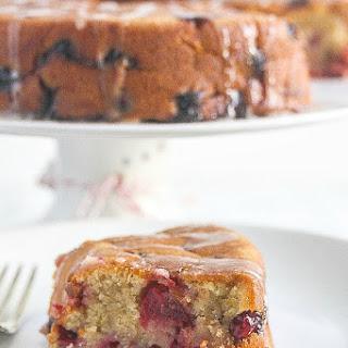 Cranberry Cake with Orange Glaze