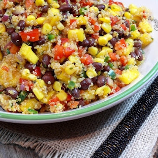 Southwestern Black Bean, Quinoa and Mango Medley.