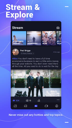 Screenshot for Blued- Gay Chat & Video Call & Meet in Hong Kong Play Store