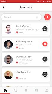Impact Hub Community App - náhled