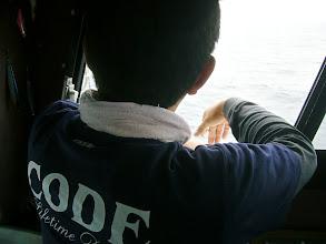 """Photo: ・・・当たらん。 久しぶりのご乗船の""""タケウチさん"""" ぼやいてます。"""