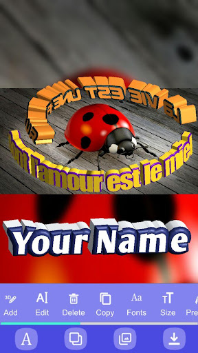 3D Text On Pictures - Logo & Name Art 1.8 screenshots 9