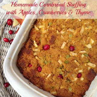 Homemade Cornbread Stuffing with Apples, Cranberries & Thyme