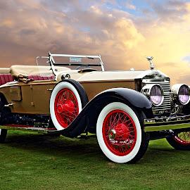 Rolls-Royce by JEFFREY LORBER - Transportation Automobiles ( jeffrey lorber, rust 'n chrome, vintage car, roadster, convertible, rolls-royce, lorberphoto, old car )