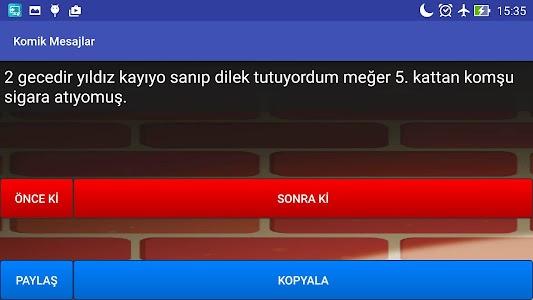 Komik Mesajlar screenshot 4