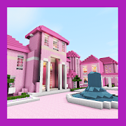 New Fancy Pink Mansion. Map for MCPE