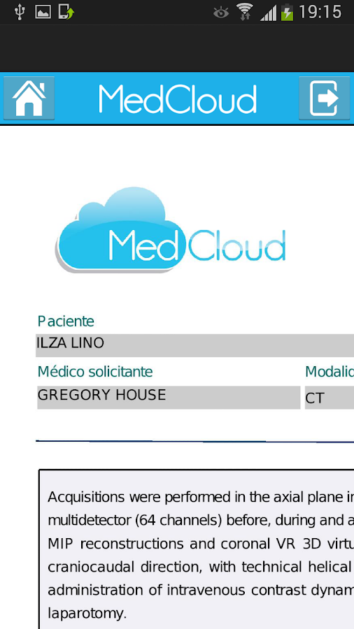 MedCloud- screenshot