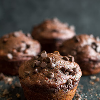 Healthy Chocolate Lover's Muffins.